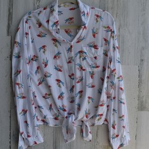 Love Notes Anthropologie button knotted Macaws